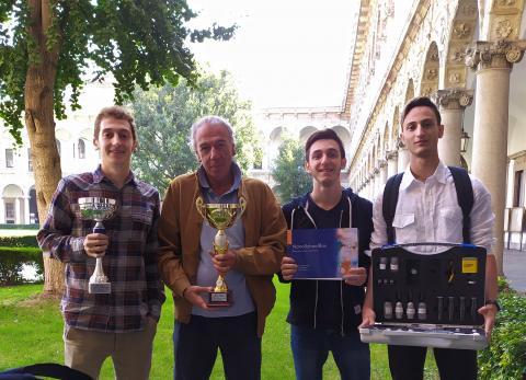 Nella foto da sin. Giulio Savelli, prof. Francesco Spotti, Andrea Panzeri,Simone Lombardi